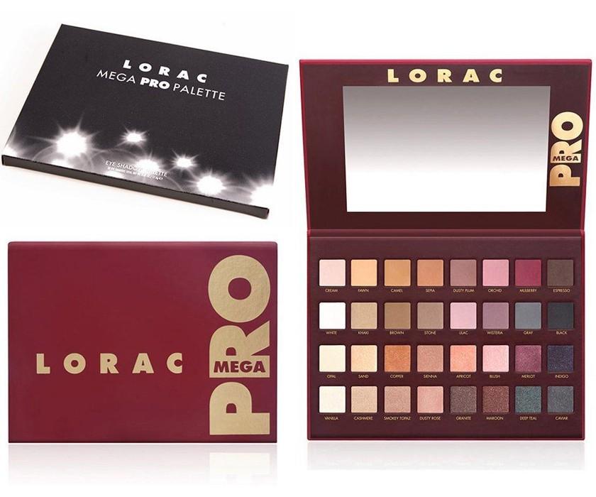 Палитра теней для век Lorac Mega Pro Palette 32 Eyeshadows