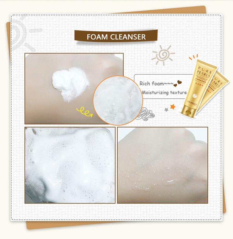 Пенка для умывания на основе жемчужной эссенции BioAqua Pure Pearls.