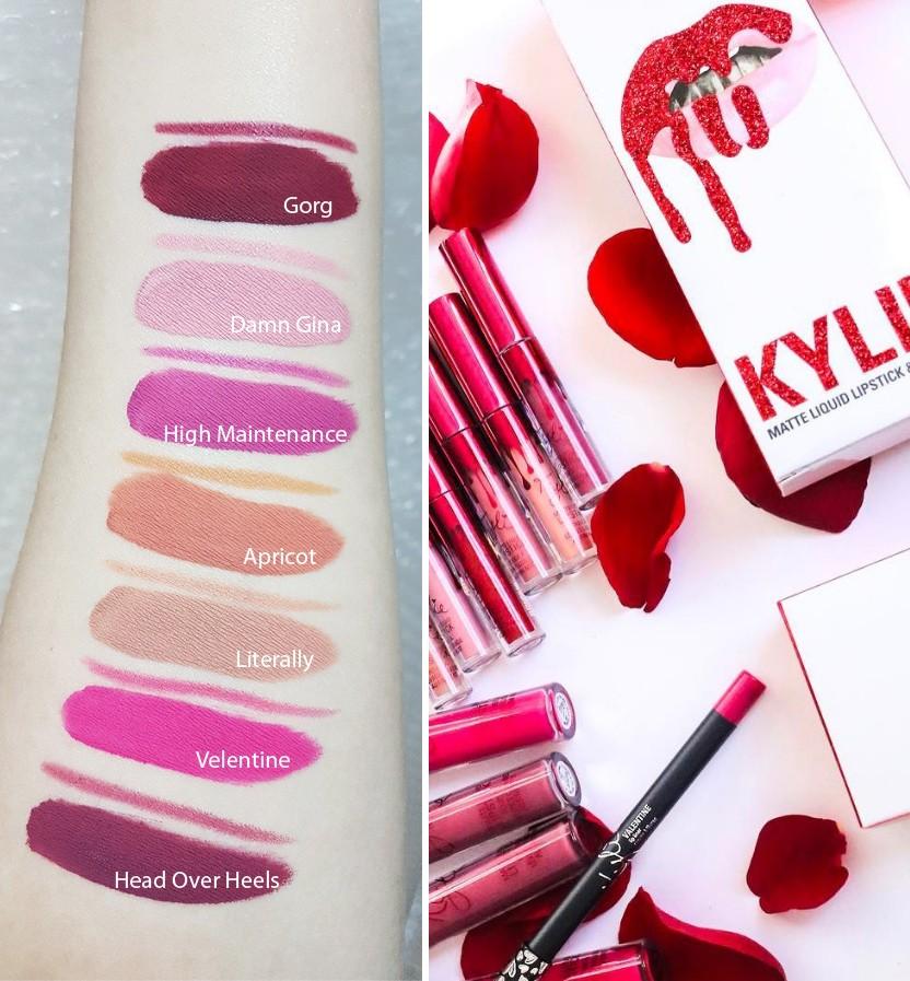 Лимитированная коллекция Kylie Valentine помада+карандаш