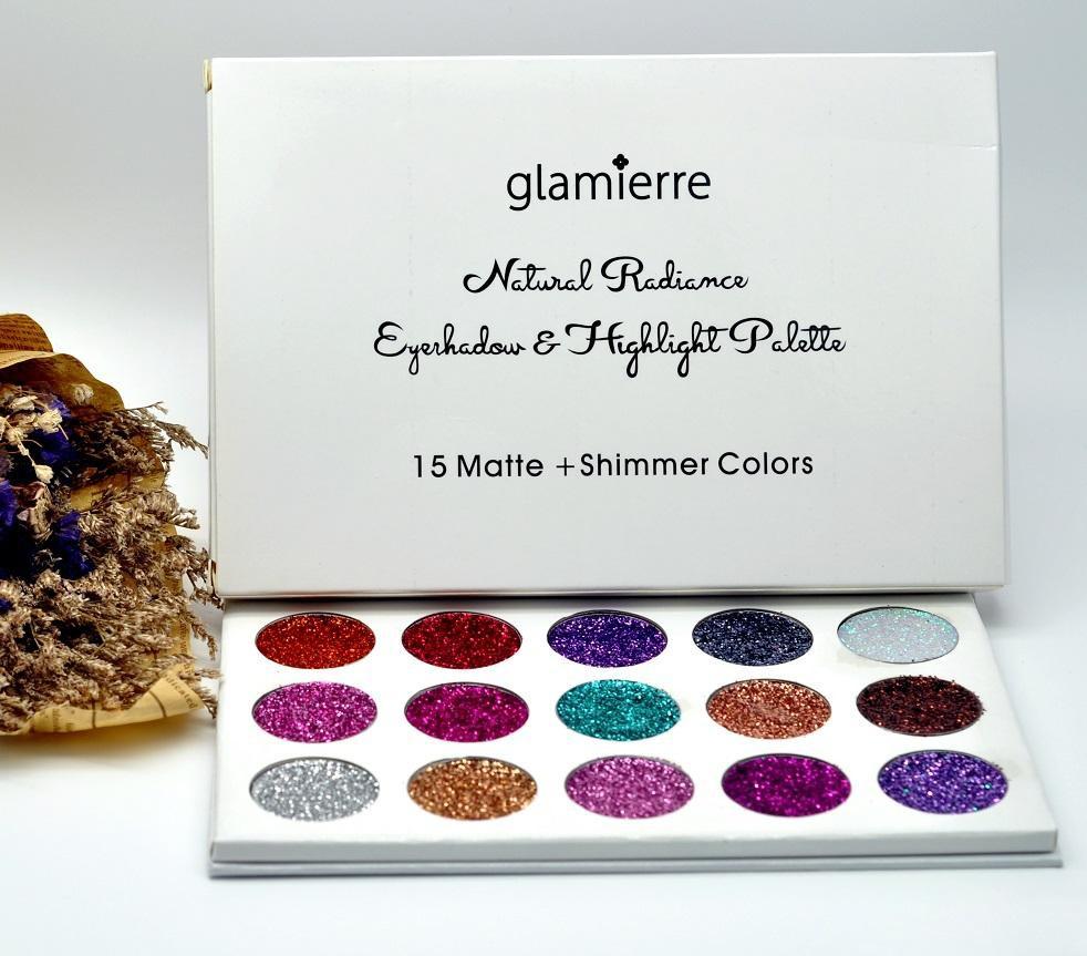 Палетка глиттеров GLAMIERRE Unicorn Glitter Palette 15 цв.