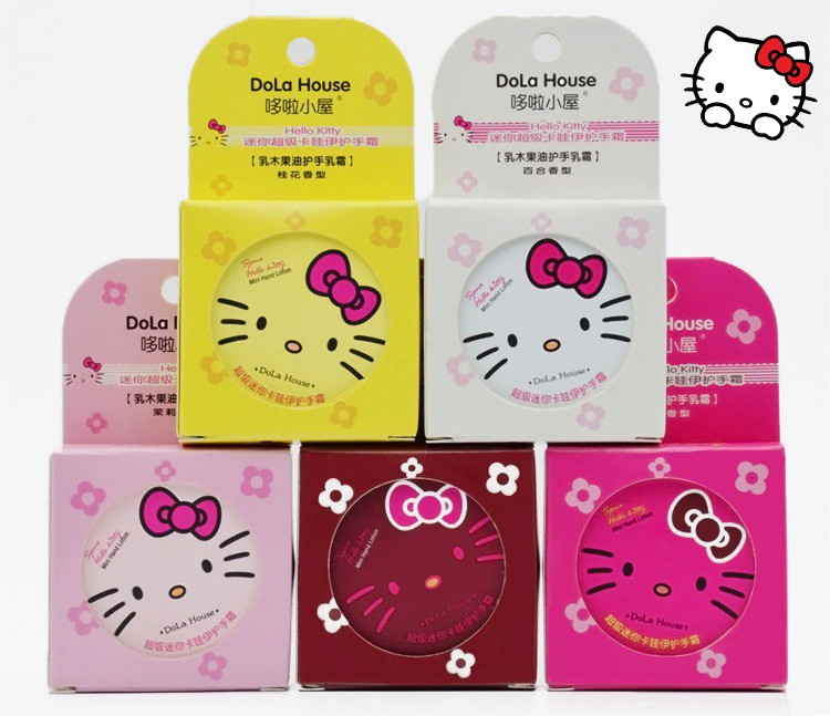 Крем для рук в жестяной баночке Hello Kitty