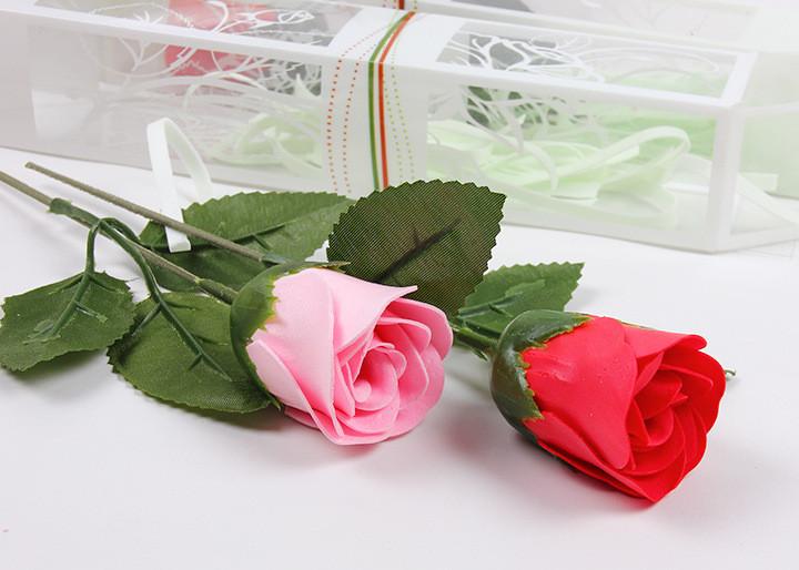 Мыльная розочка в подарочной упаковке (разные цвета)