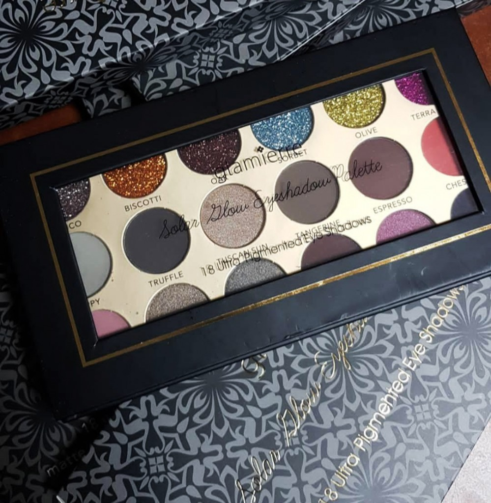 Палитра тени + глиттеры Glamierre Glitter Eyeshadow Palette