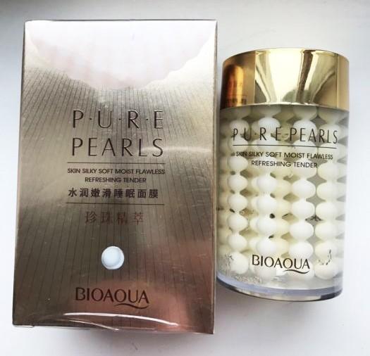 Жемчужный крем для лица с шелковистым покрытием BioAqua Pure Pearls