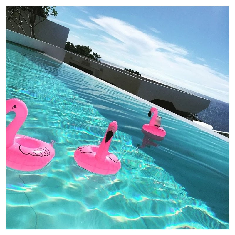 Надувная подставка для напитков Фламинго