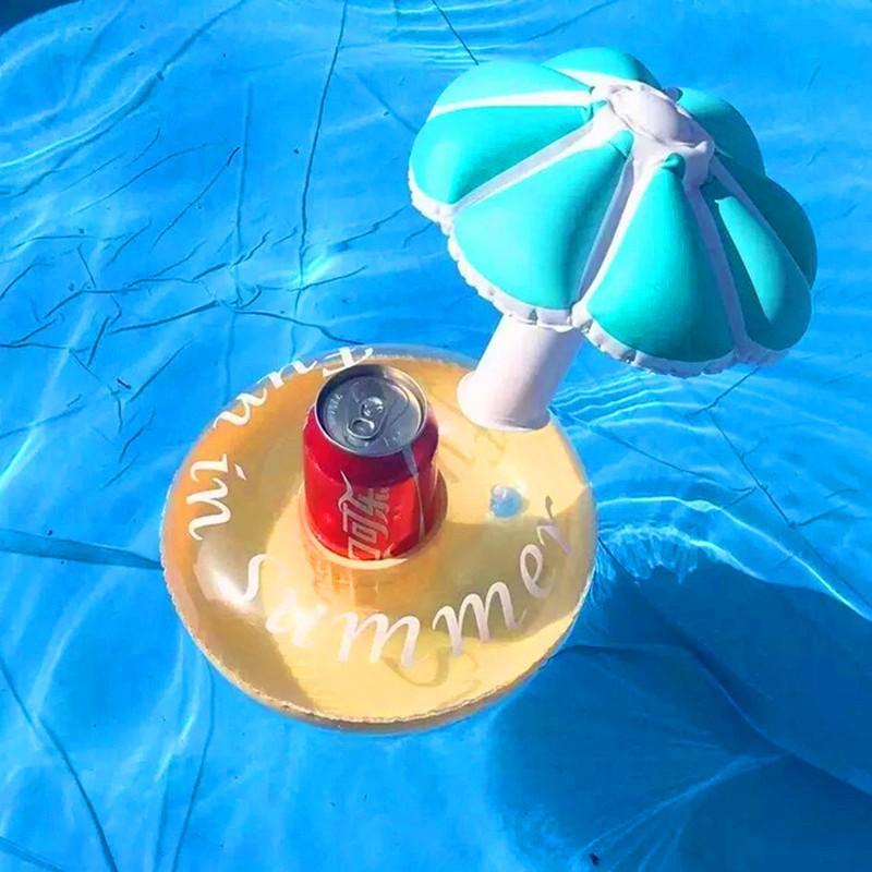 Надувная подставка для напитков с зонтом