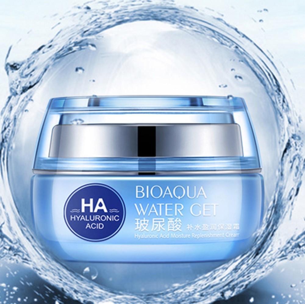 Крем увлажняющий, омолаживающий «BIOAQUA» с гиалуроновой кислотой, Water Get Hyaluronic Acid Moisture, 50 гр.