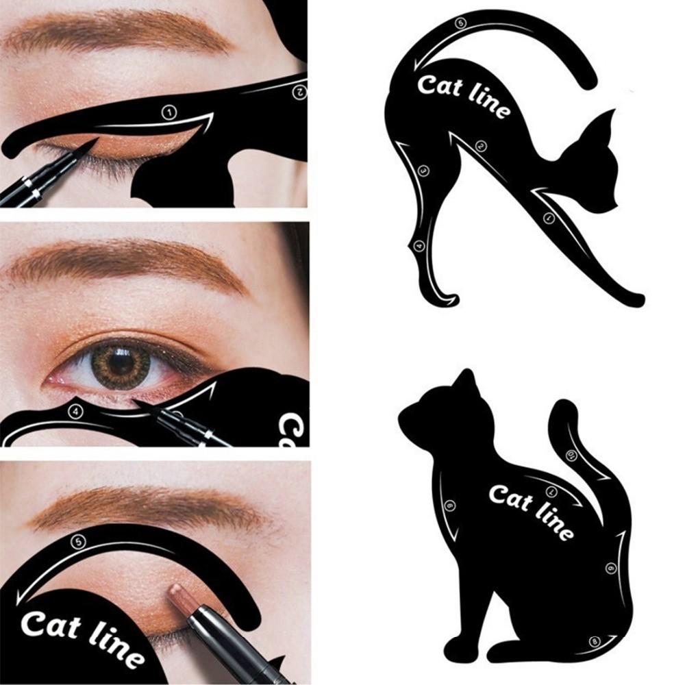 Набор трафаретов для макияжа глаз Кошка.