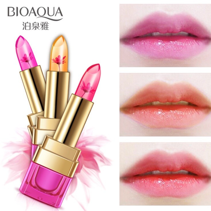 Желе-бальзамы для губ с цветком внутри Bioaqua