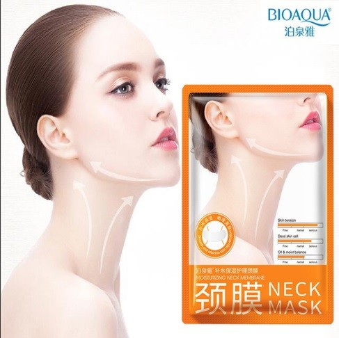 Маска для шеи с гиалуроновой кислотой Bioaqua Neck Mask