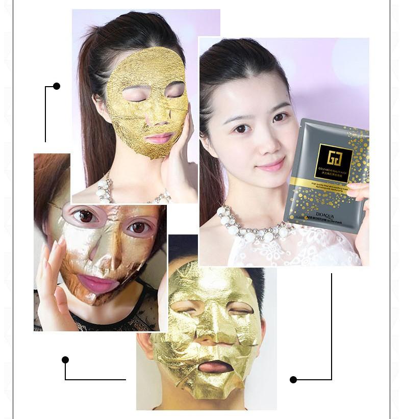 Тканевая маска с золотом Bioaqua Gold above Beauty Mask