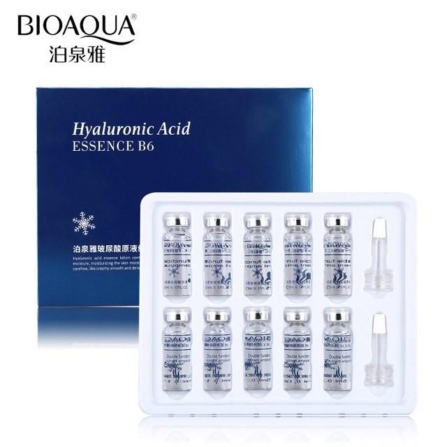 Набор сывороток с гиалуроновой кислотой «BIOAQUA»  Hyaluronic Acid Essence B6 (10 ампул по 5мл.)