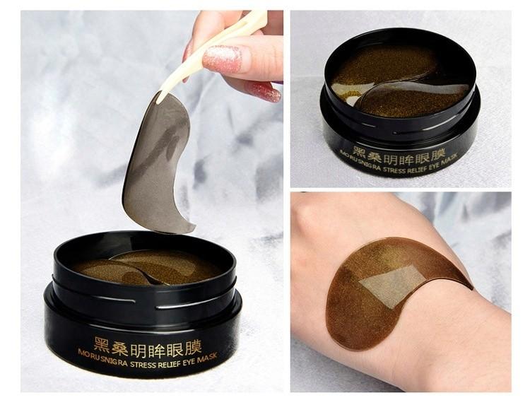 Гидрогелевые патчи для глаз ESEDO KOREA Morusnigra Stressrelief eye Mask Black с экстрактом ежевики.