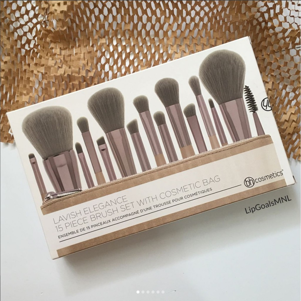 Набор кистей для макияжа 15 шт. + косметичка, в коробке. BH COSMETICS Lavish Elegance