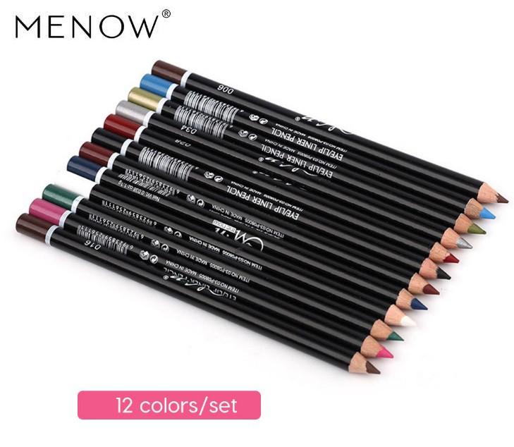 Набор карандашей для глаз и губ Menow, 12 штук