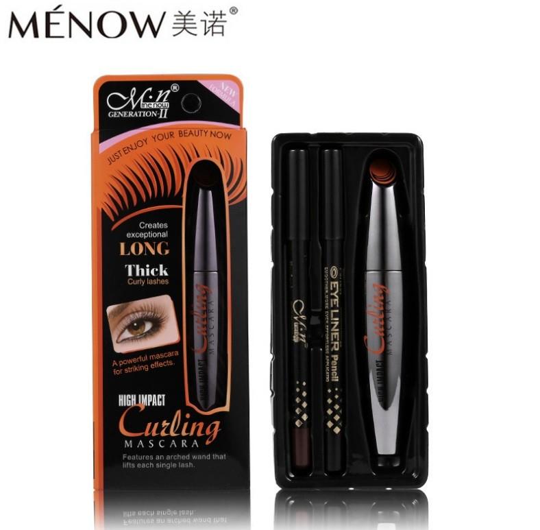 Набор Menow тушь + 2 карандаша, оранжевая коробка