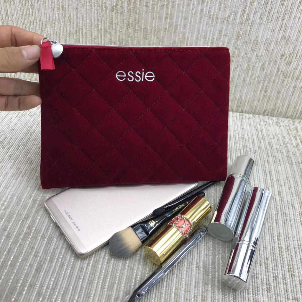 Косметичка бархатная Essie 20*14.5 см.