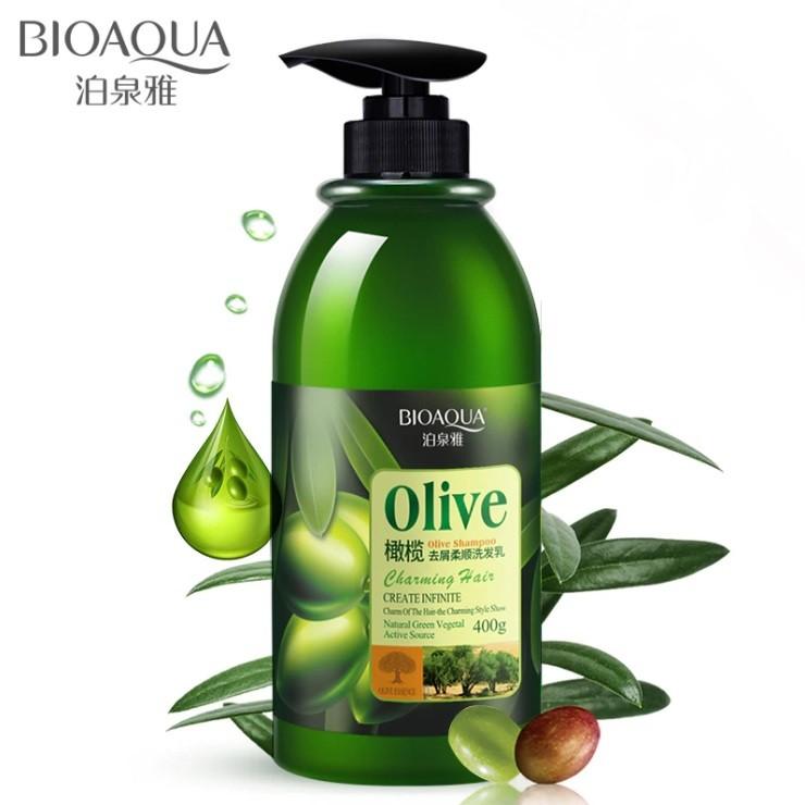 Шампунь для волос с масло оливы BIOAQUA, 400 мл.