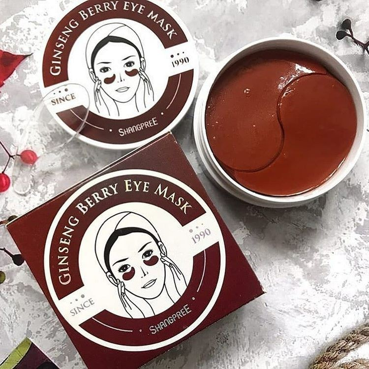 Патчи Shangpree с женьшенем Ginsening Berry Eye Mask, 60 шт.
