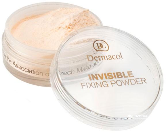 Рассыпчатая фиксирующая невидимая пудра Invisible Fixing Powder Dermacol