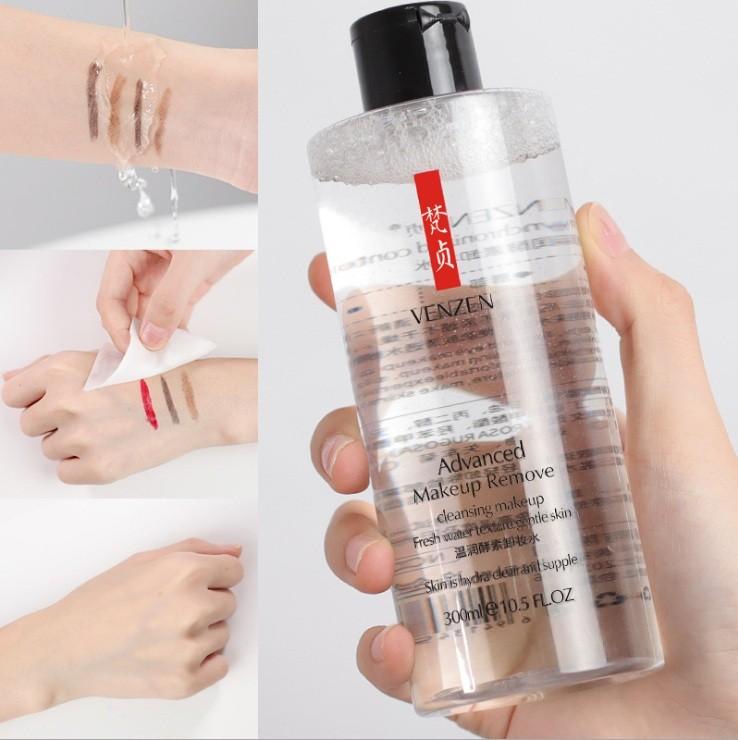 Глубоко очищающая вода для снятия любого вида макияжа Venzen Advanced Makeup Remover