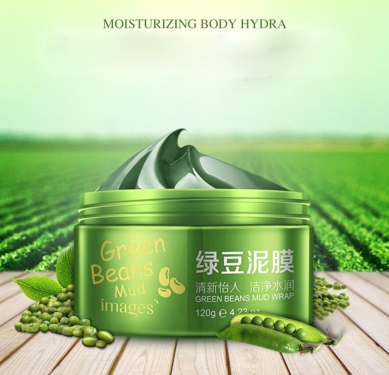 Противовоспалительная очищающая грязевая маска с зелеными бобами мунг Images, 120 мл.