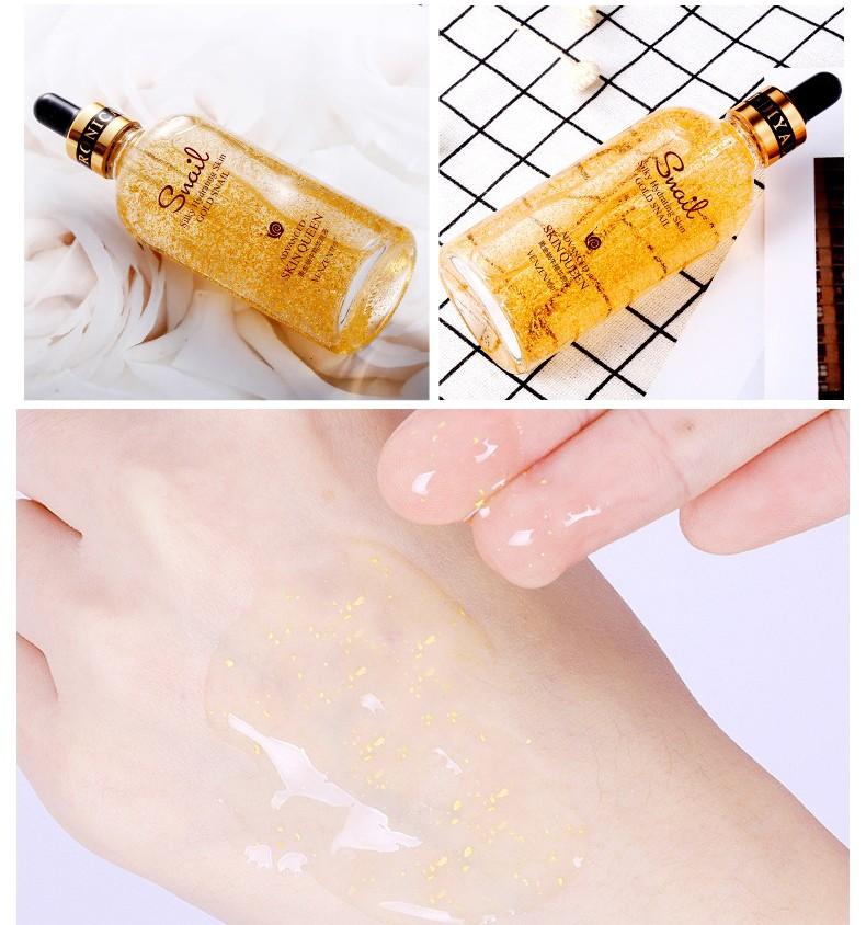 Омолаживающая сыворотка для лица с улиткой и биозолотом VENZEN Hydrating skin gold snail, 100 мл.