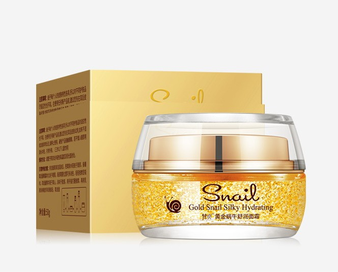 Омолаживающий гель для лица с муцином улитки и золотом Venzen Gold Snail Silky Hydration, 50 гр.