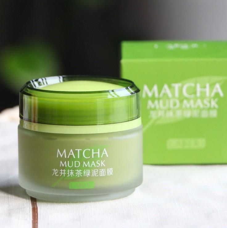 Очищающая маска с чаем Матча бобами мунг Laikou Matcha Mud Mask