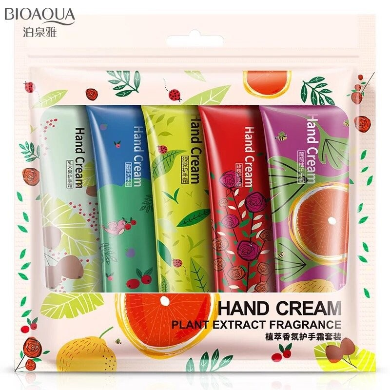 Набор парфюмированных кремов для рук Hand Cream Plant Extract Bioaqua