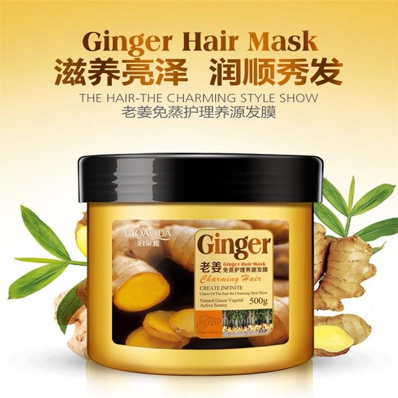 Имбирная маска для волос Bioaqua Ginger Hair Mask, 500 гр.