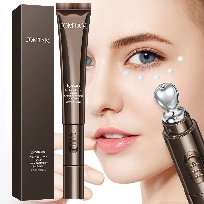 Крем для глаз с вибромассажером и экстрактом икры JomTam, 20 гр.