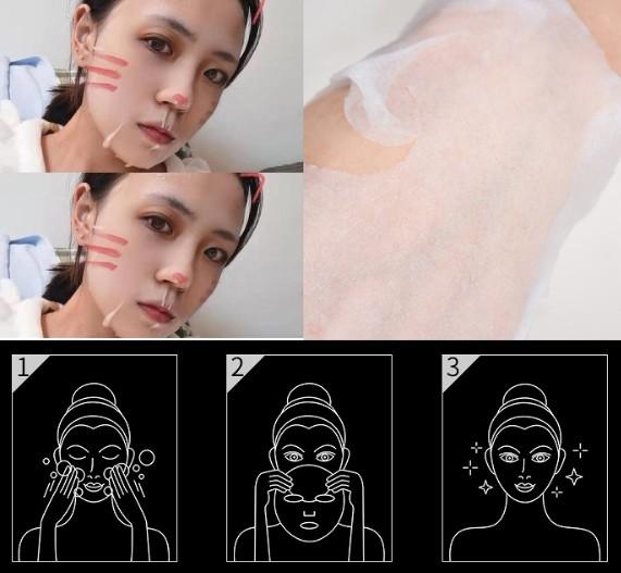 Увлажняющая питательная маска с пептидами и ниацинамидом ERUYN Facial mask