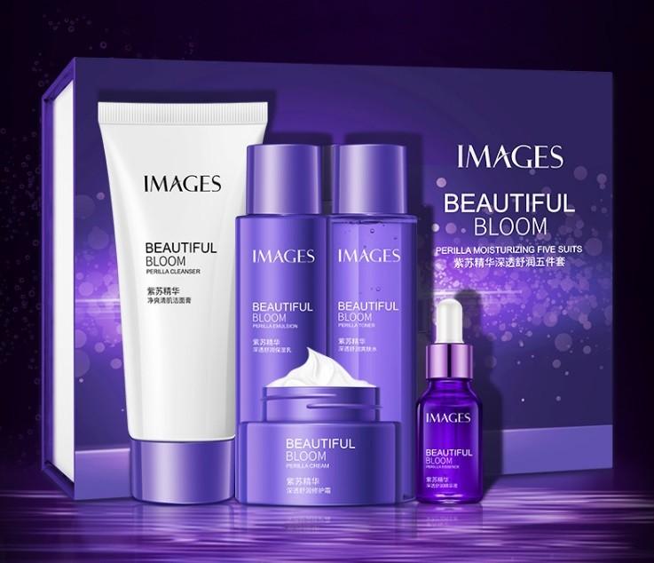 Набор косметики 5 увлажняющих средств с экстрактом периллы в подарочной упаковке IMAGES Beauty Beautiful Bloom