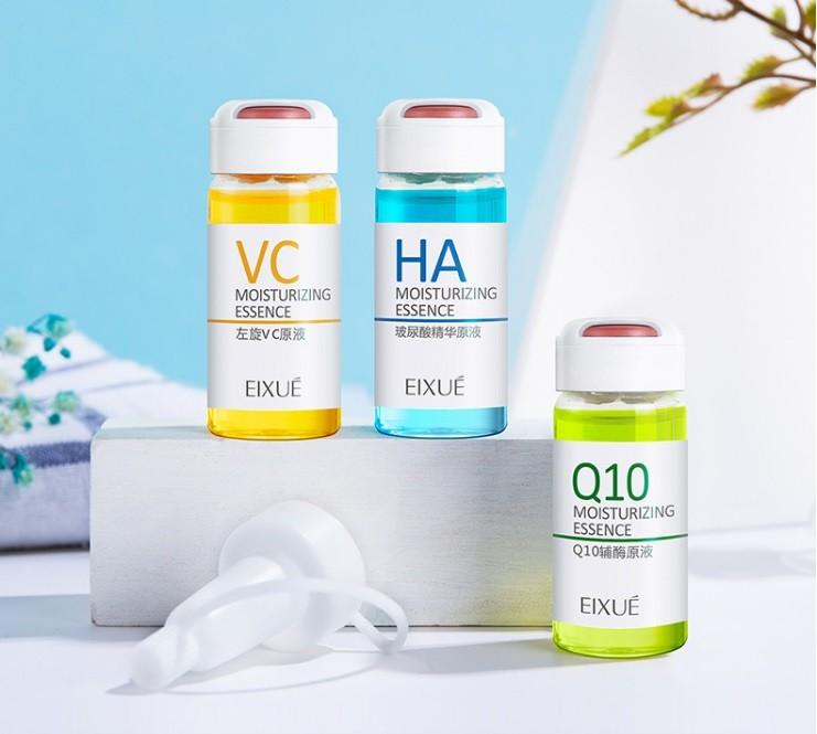 Набор омолаживающих сывороток для лица EIXUE, 6 шт. по 10 мл. (Коэнзим Q10, Гиалуроновая кислота, Витамин С)