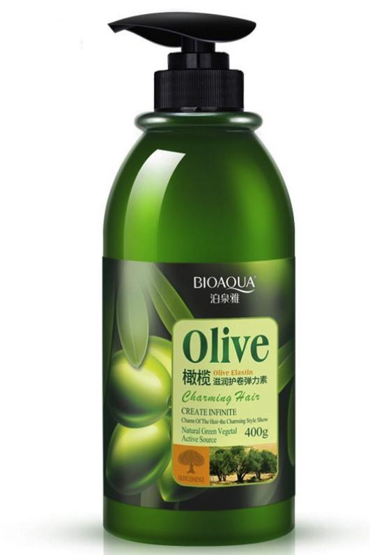 Эластин защитный для укладки волос с оливой BioAqua Olive Elastin, 400 гр.