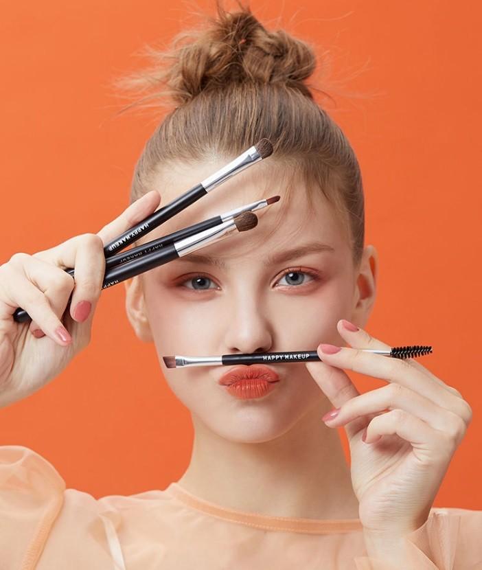 Набор кистей для макияжа глаз 4 штуки