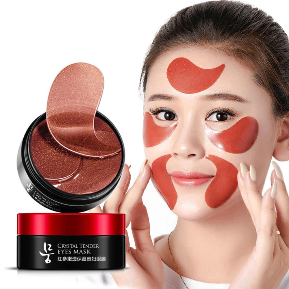 Гидрогелевые патчи для глаз с экстрактом красного женьшеня Eanhoo Crystal Tender Eye Mask, 60 шт.