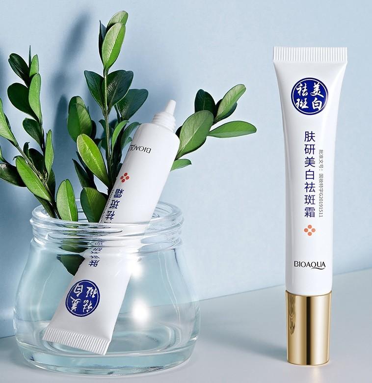 Увлажняющий крем осветляющий веснушки, с никотинамидом и экстрактом бурых водорослей BIOAQUA Skin Research Anti-Freckle Cream, 20 гр.