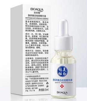 Сыворотка для лица и зоны декольте от пигментных пятен и веснушек Bioaqua Anti-Freckle, 15 мл.