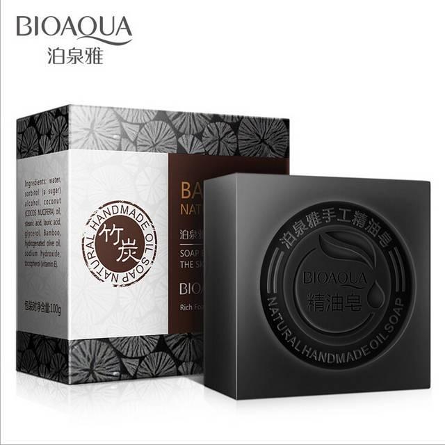 Мыло с бамбуковым углем Bioaqua Bamboo soap, 100 гр
