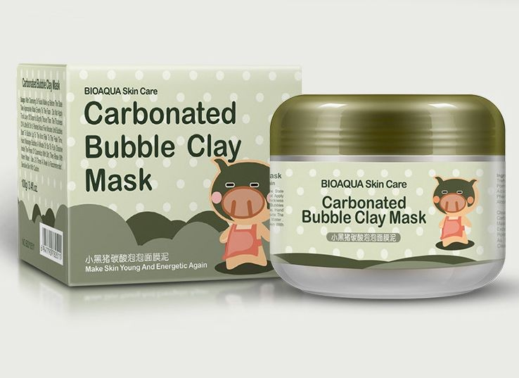 Кислородная маска для лица Bioaqua Carbonated Bubble Clay Mask, 100гр.