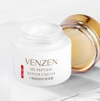 Увлажняющий КРЕМ для лица с 6 пептидами VENZEN SIX PEPTIDE REPAIR CREAM, 50 гр.